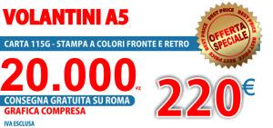 Offerta speciale 20000 volantini a5