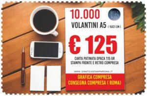 stampare volantini a5 a roma