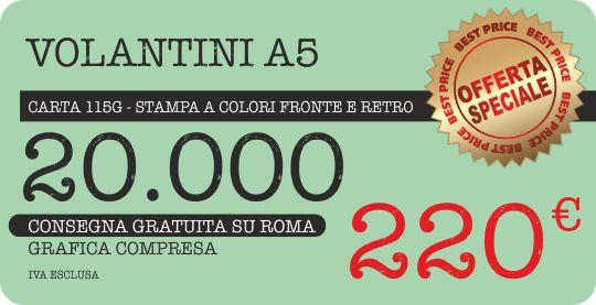 i prezzi più bassi per stampare volantini a roma